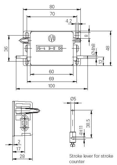 Dimensions Stroke Counters H310