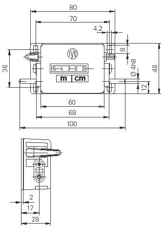 Dimensions Meter Counters M310a