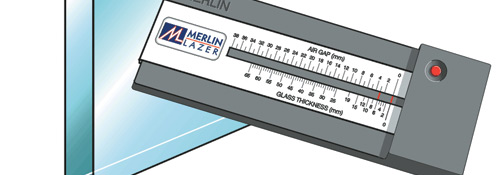 merlin lazer glass measurement gauge. Black Bedroom Furniture Sets. Home Design Ideas