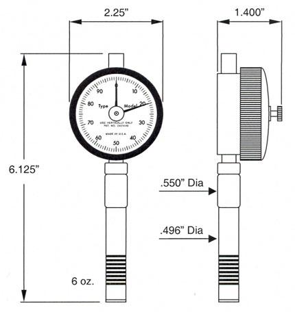 Dimensions Durometers RX-2000
