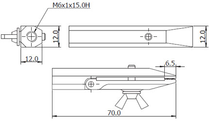Dimensions Shimpo Attachments  FG-GRM6FLM12