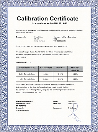 Calibration Moisture Meter