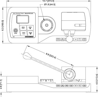 Dimensions Wire Terminal Testers WT3-201